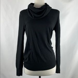 Calvin Klein Black Drape Neck Sweater